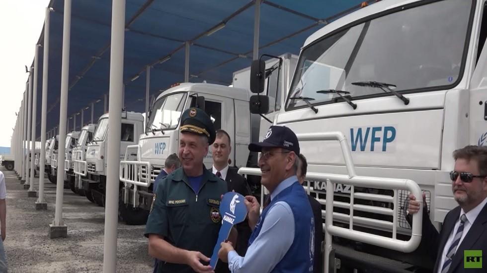 تسليم 97 شاحنة كاماز للأغذية العالمية