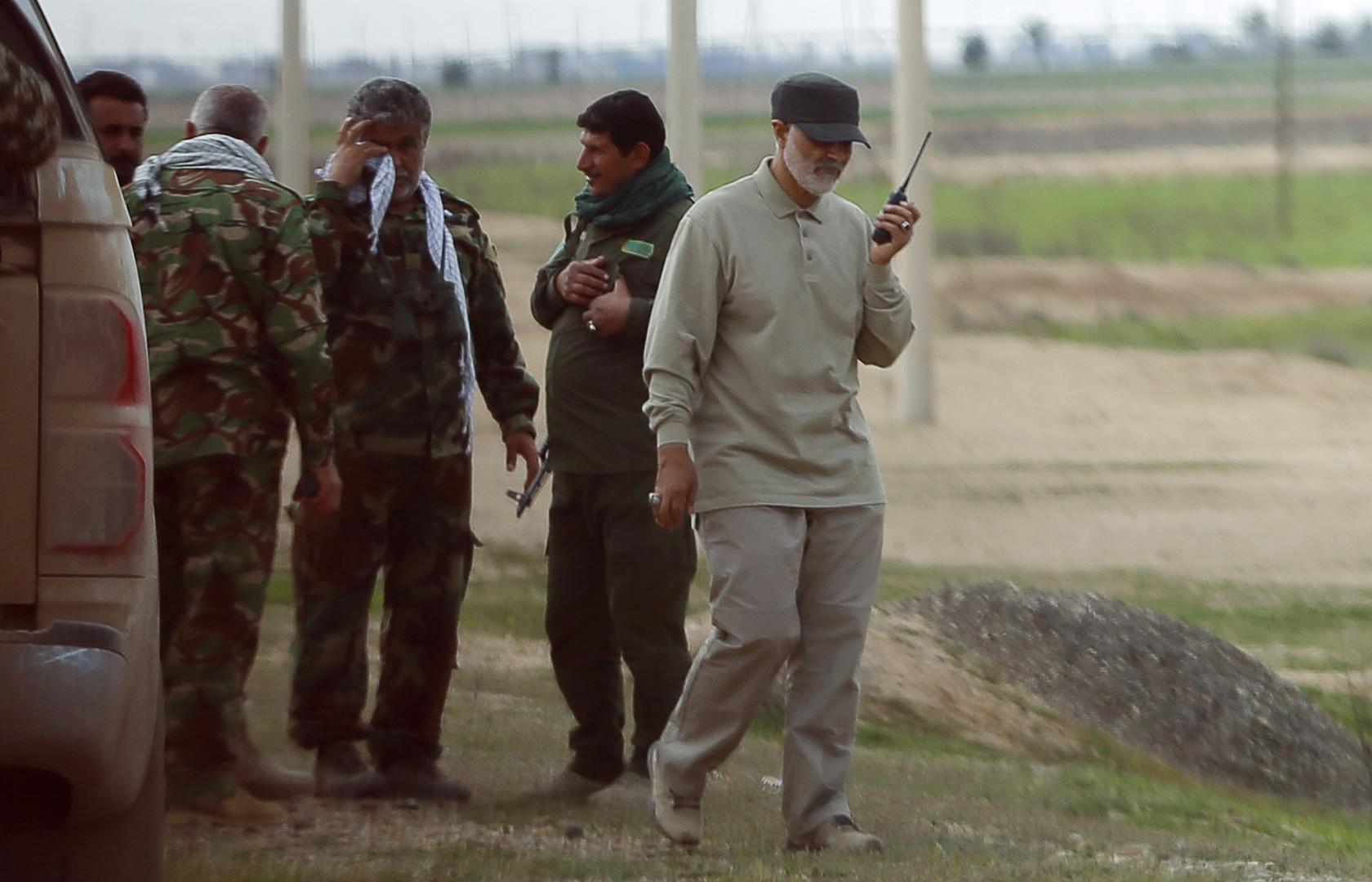 قائد فيلق القدس في الحرس الثوري الإيراني قاسم سليماني- أرشيف