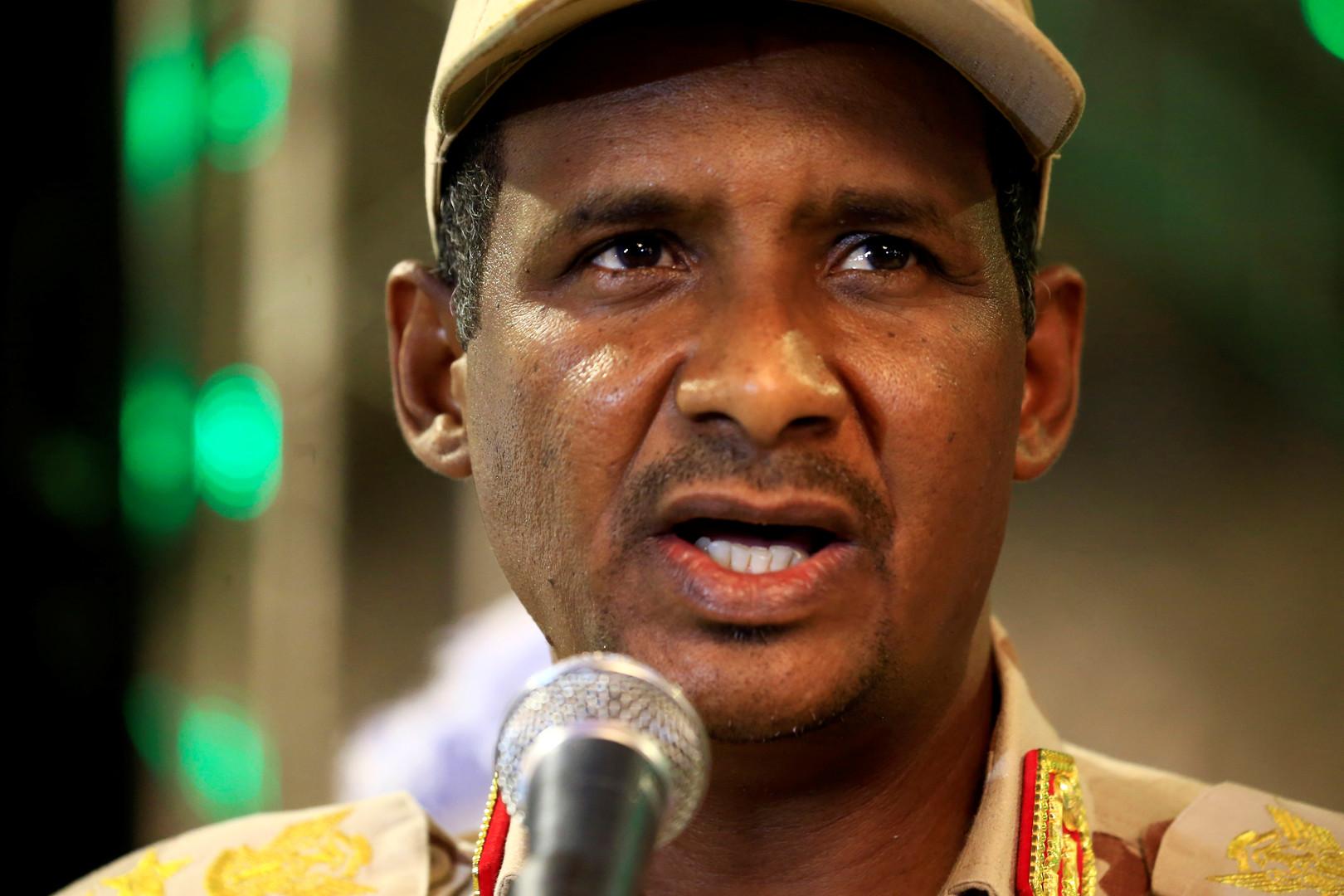نائب رئيس المجلس العسكري الانتقالي السوداني محمد حمدان دقلو