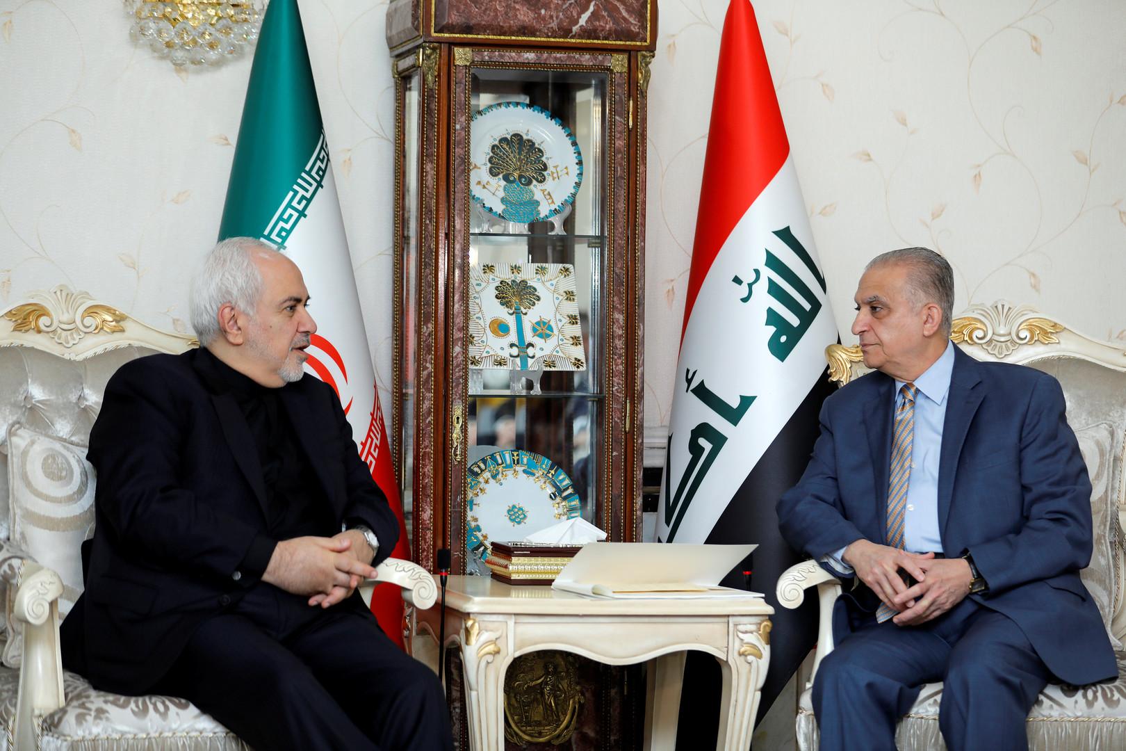 وزير الخارجية العراقي ونظيره الإيراني