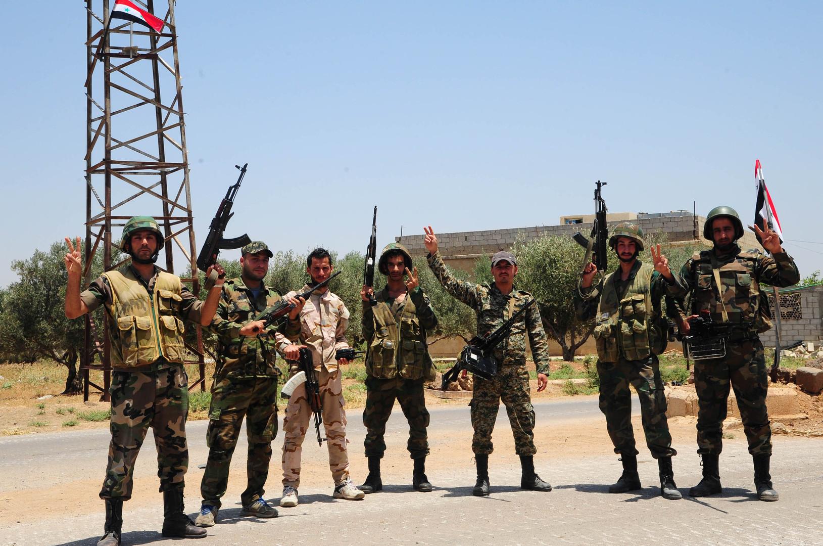 عناصر من الجيش السوري