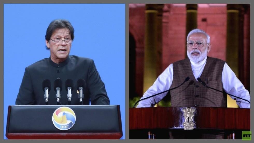 رئيس الوزراء الباكستاني عمران خان ونظيره الهندي ناريندرا مودي