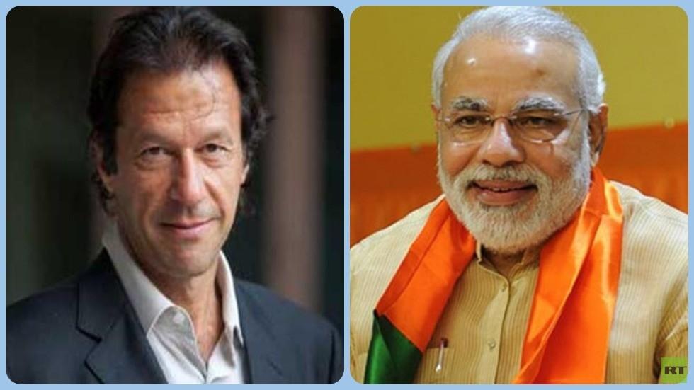 رئيسا الوزراء الهندي نارندا مودي والباكستاني عمران خان