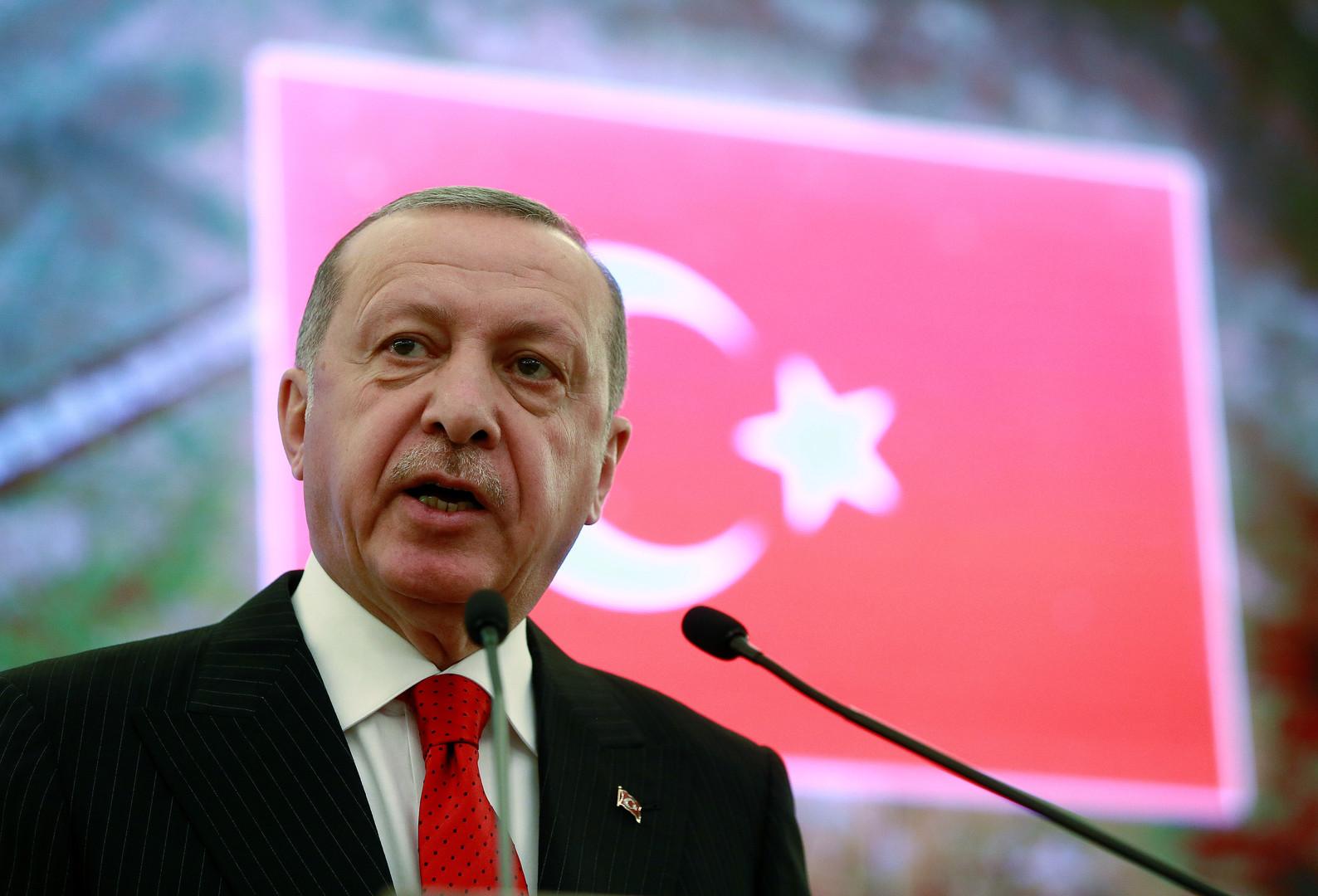 أردوغان يعلق على
