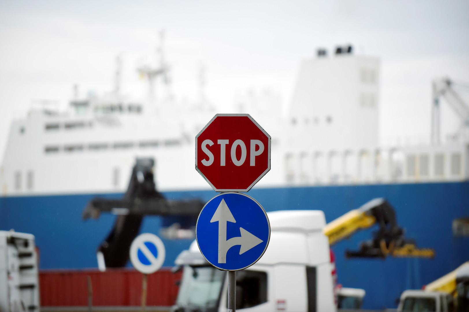 سفينة شحن سعودية في ميناء فرنسي-أرشيف