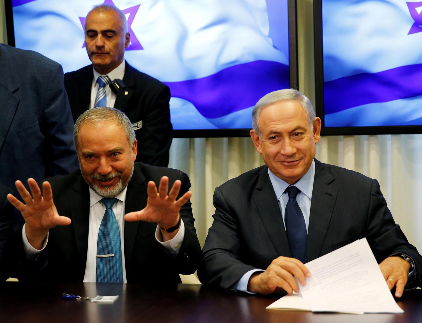 نتنياهو وليبرمان في مشاورات تشكيل الحكومة