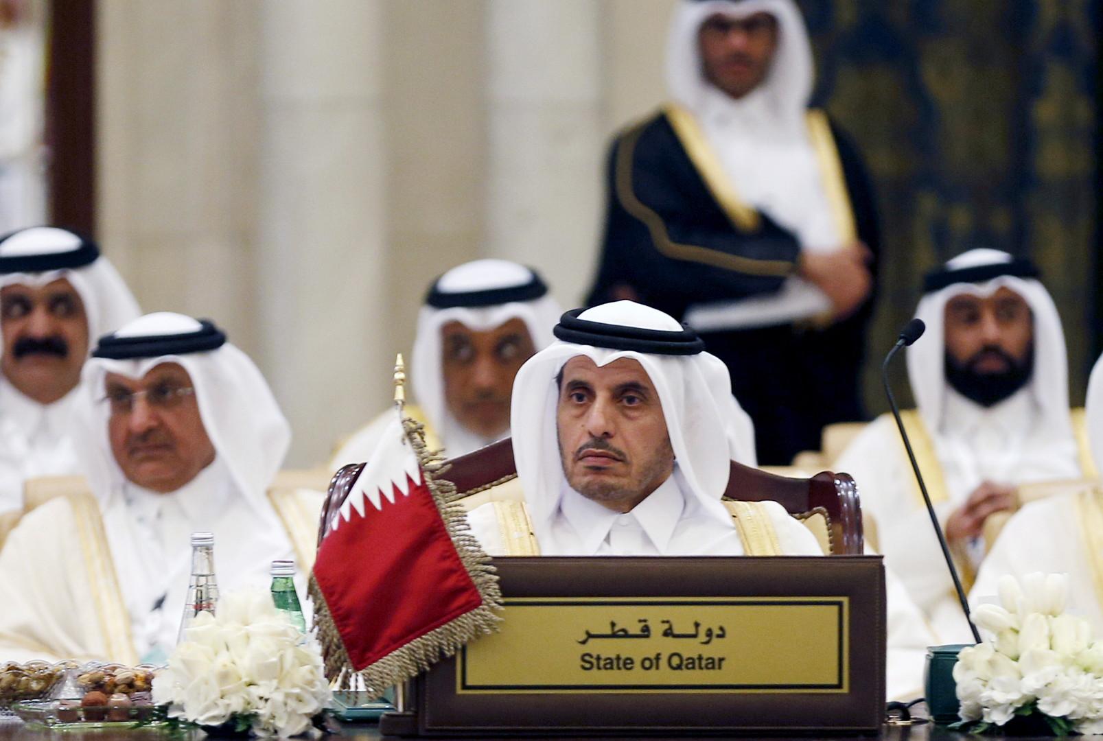 رئيس مجلس وزراء قطر، الشيخ عبدالله بن ناصر بن خليفة آل ثاني، في الرياض (27 أبريل 2016)