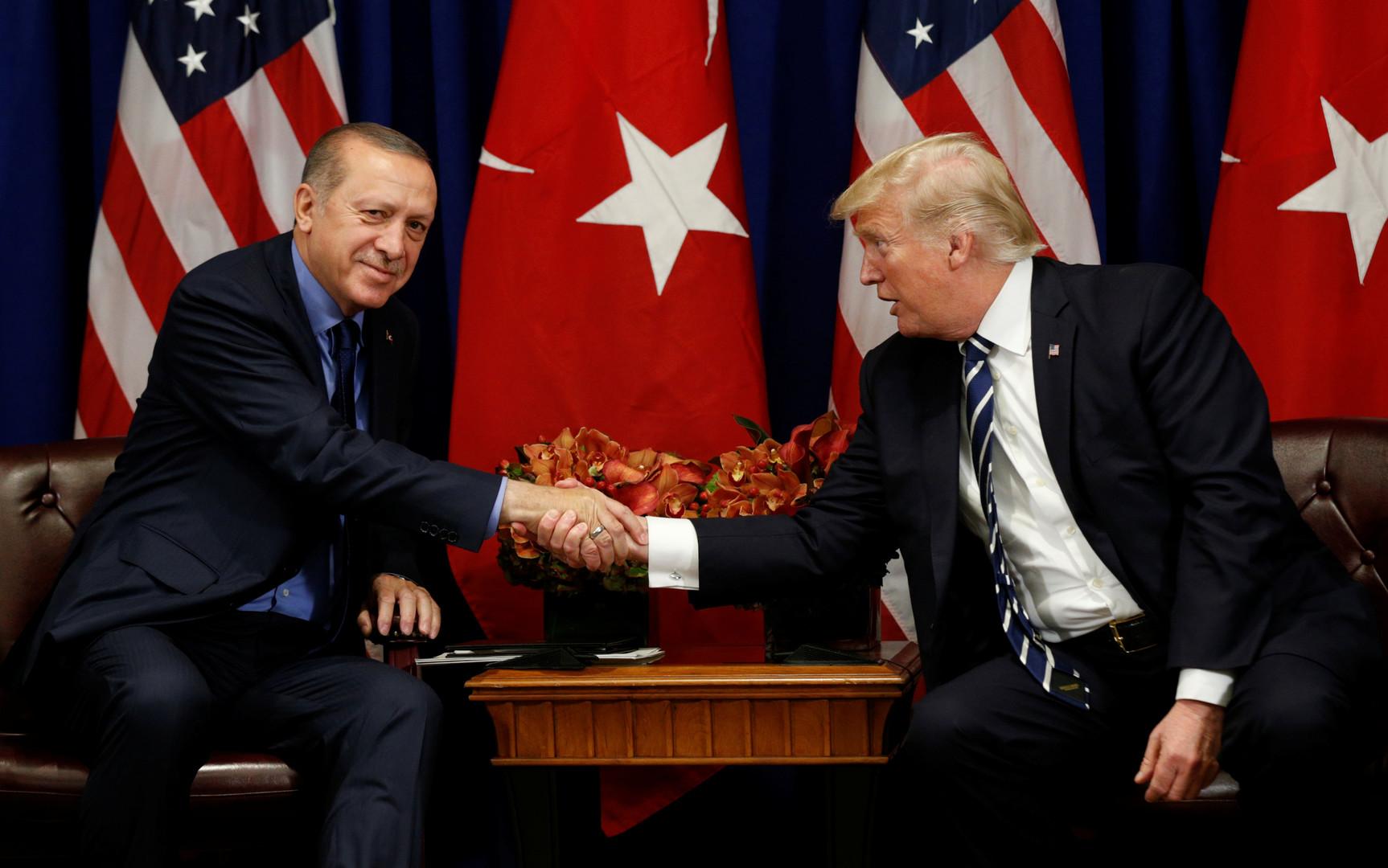 وسائل إعلام: ترامب وأردوغان يتفقان على إنشاء فريق عمل حول