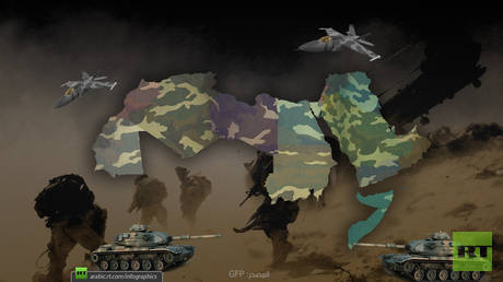 How will the Arab armies become united if they are led by Egypt, Saudi Arabia and Algeria?