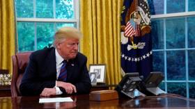 トランプオフィシャル:私たちはイランからの電話を待っている電話の前に座っています