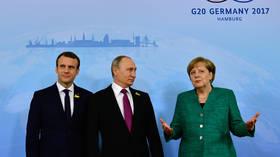 بوتين وماكرون وميركل يؤكدون أهمية حفظ الاتفاق النووي مع إيران ومواصلة التعاون الاقتصادي معها