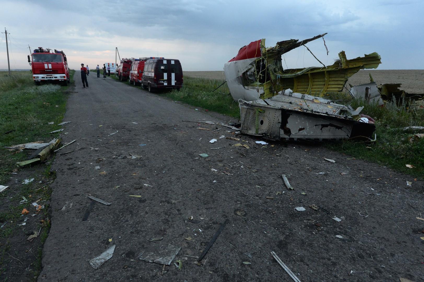 حطام الطائرة الماليزية في أوكرانيا
