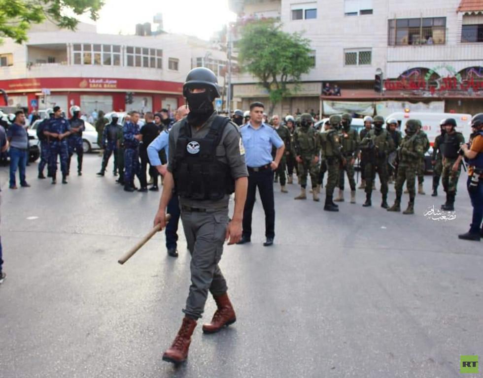 الأمن الفلسطيني يفض تجمعا لعناصر