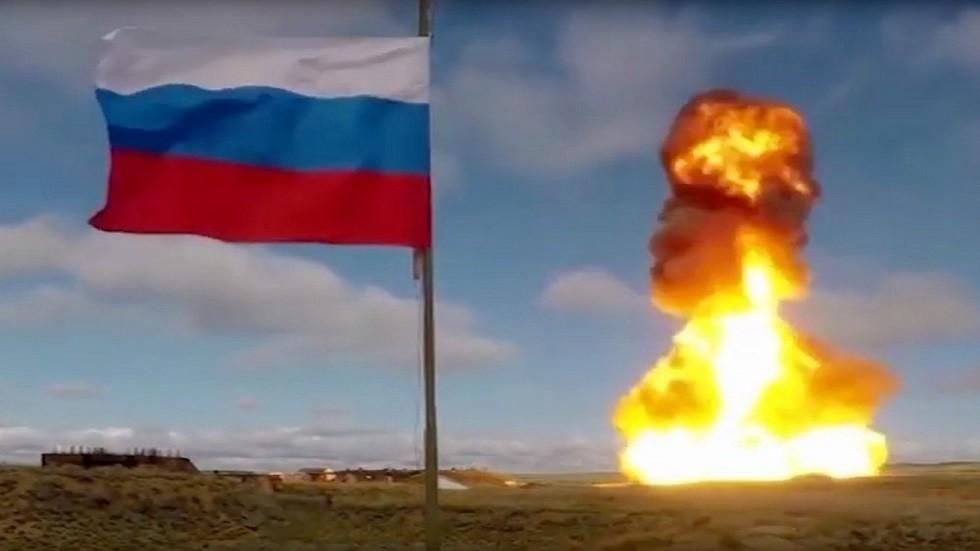شاهد.. الدفاع الروسية  تنشر فيديو لاختبار صاروخ جديد