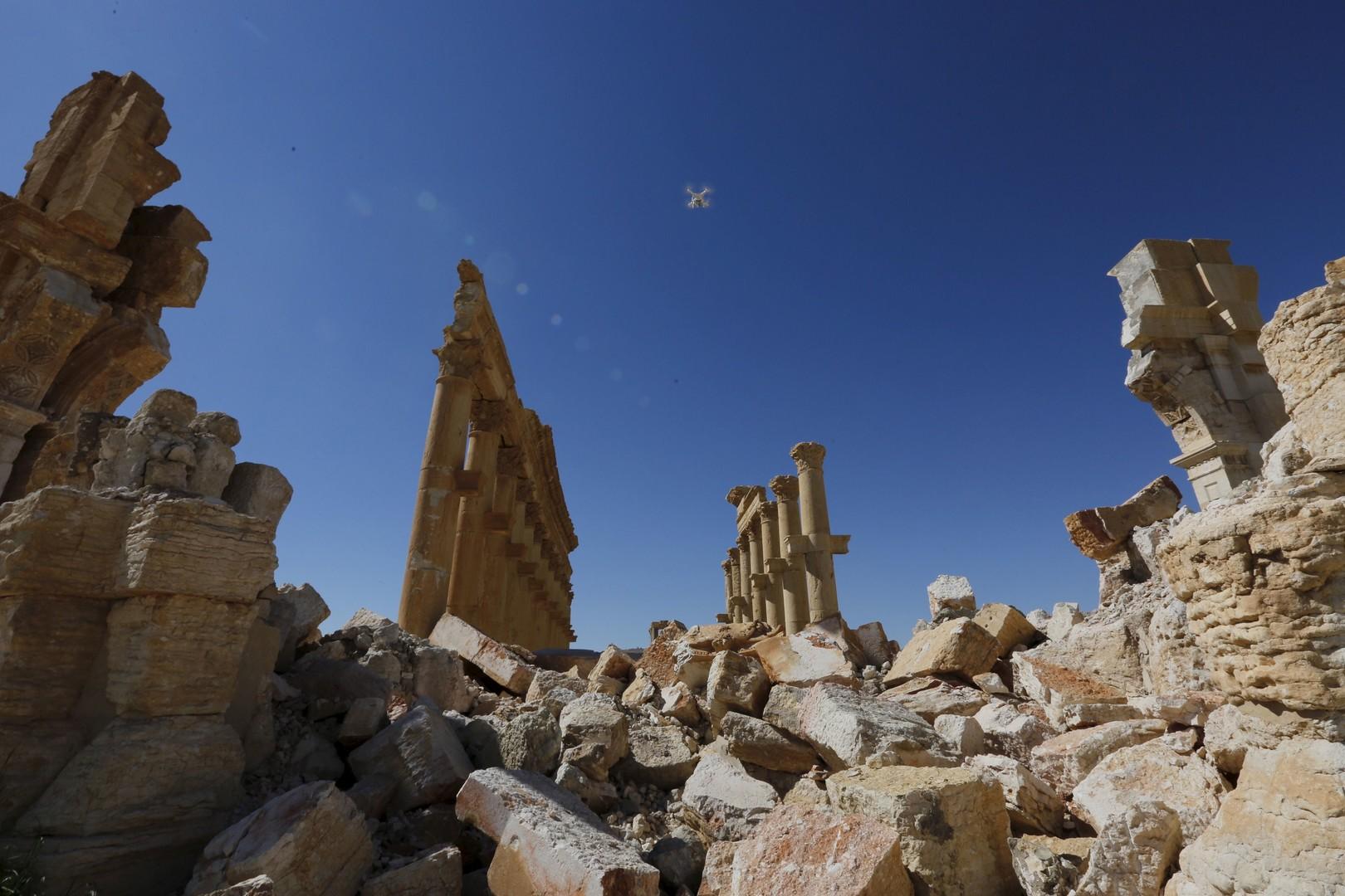 آثار تدمر بعد تخريبها من قبل داعش