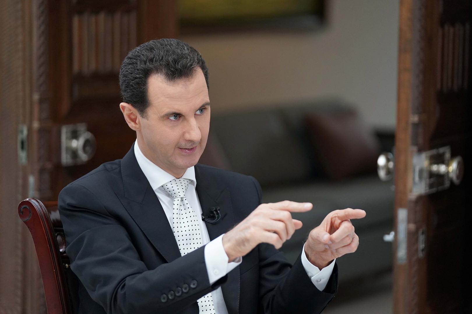 الولايات المتحدة: لا نسعى لتغيير النظام في سوريا ومصير الأسد يقرره الشعب