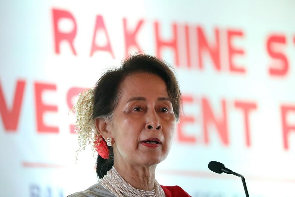 زعيمة ميانمار أون سان سو تشي