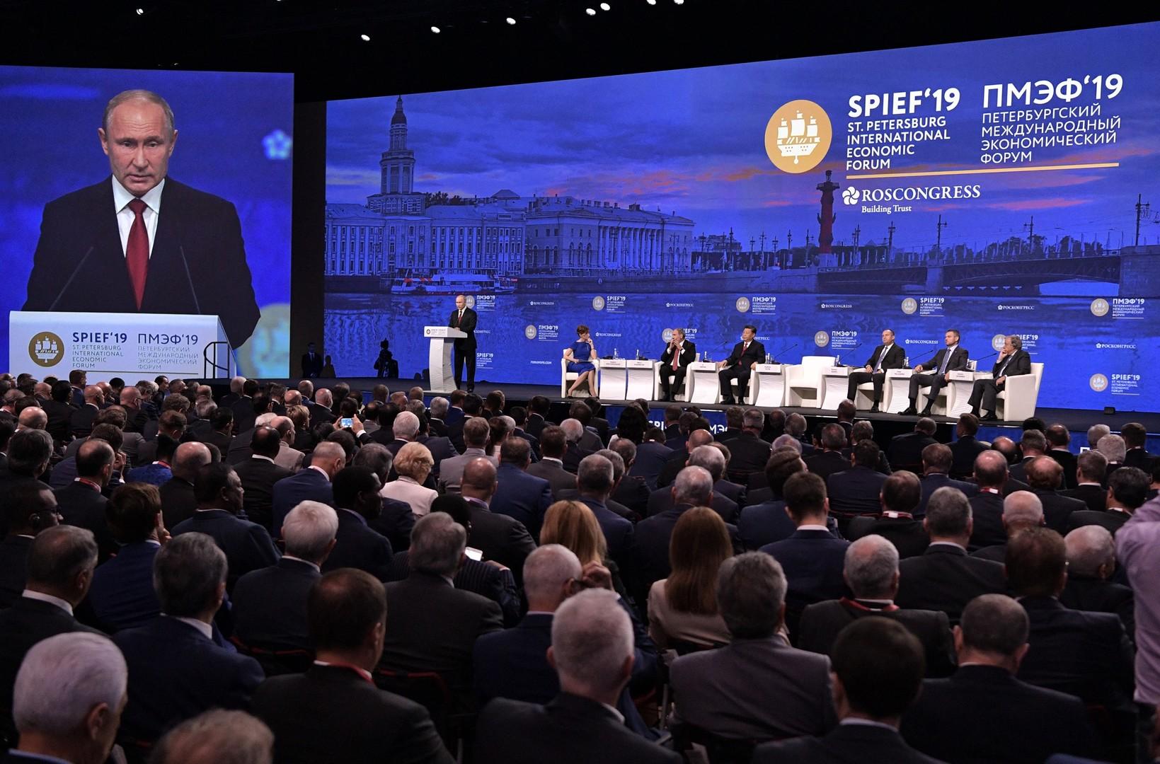 بوتين يقترح تأسيس بنك مفتوح لمشاريع التنمية الرائدة في العالم