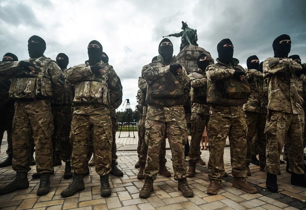 متطرفون أوكرانيون (صورة أرشيفية)