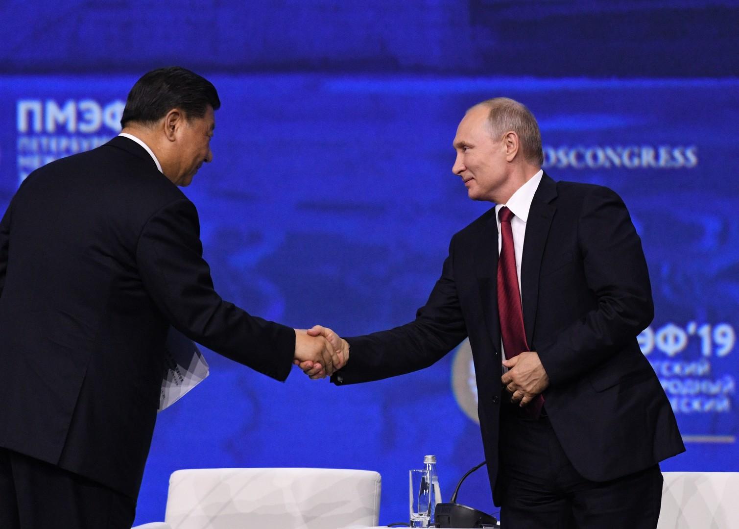 بوتين: لا ننشئ تحالفا عسكريا مع الصين