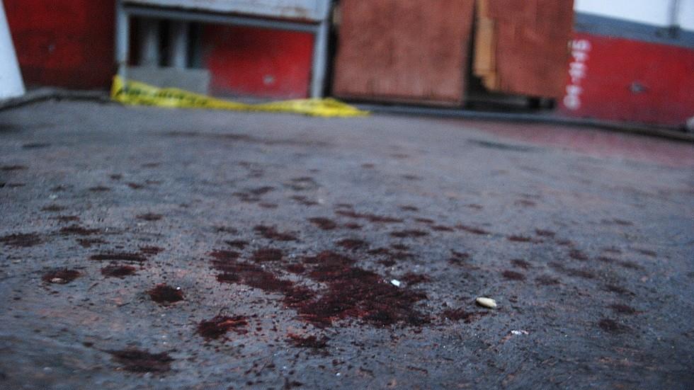 دماء في موقع جريمة