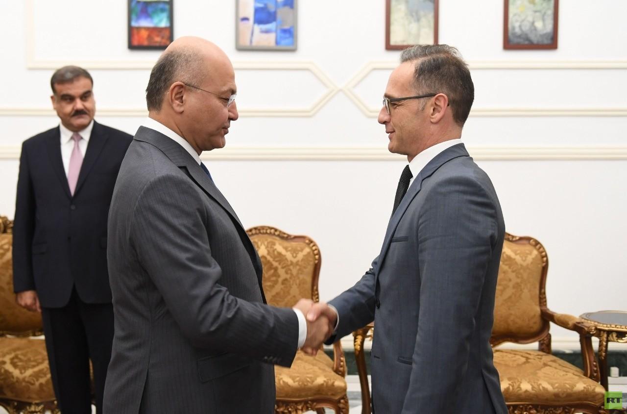 الرئيس العراقي: ندعم اعتماد لغة الحوار في المنطقة ولدى ألمانيا دور مهم في تخفيف التوتر