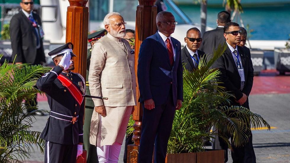 رئيس جزر المالديف إبراهيم محمد صلح ورئيس الوزراء الهندي ناريندرا مودي