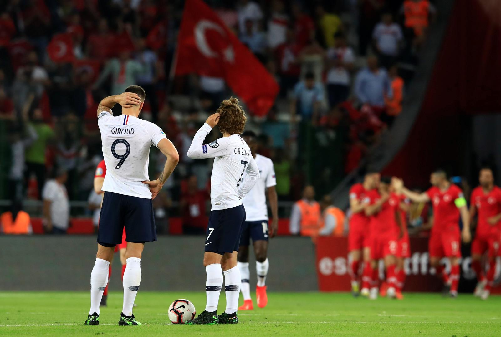 تركيا تسقط فرنسا  بطلة العالم  في تصفيات  يورو 2020  -