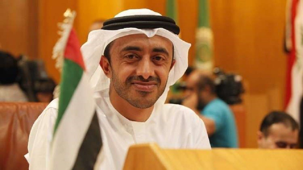 وزير الخارجية الإماراتي عبدالله بن زايد آل نهيان (صورة أرشيفية)