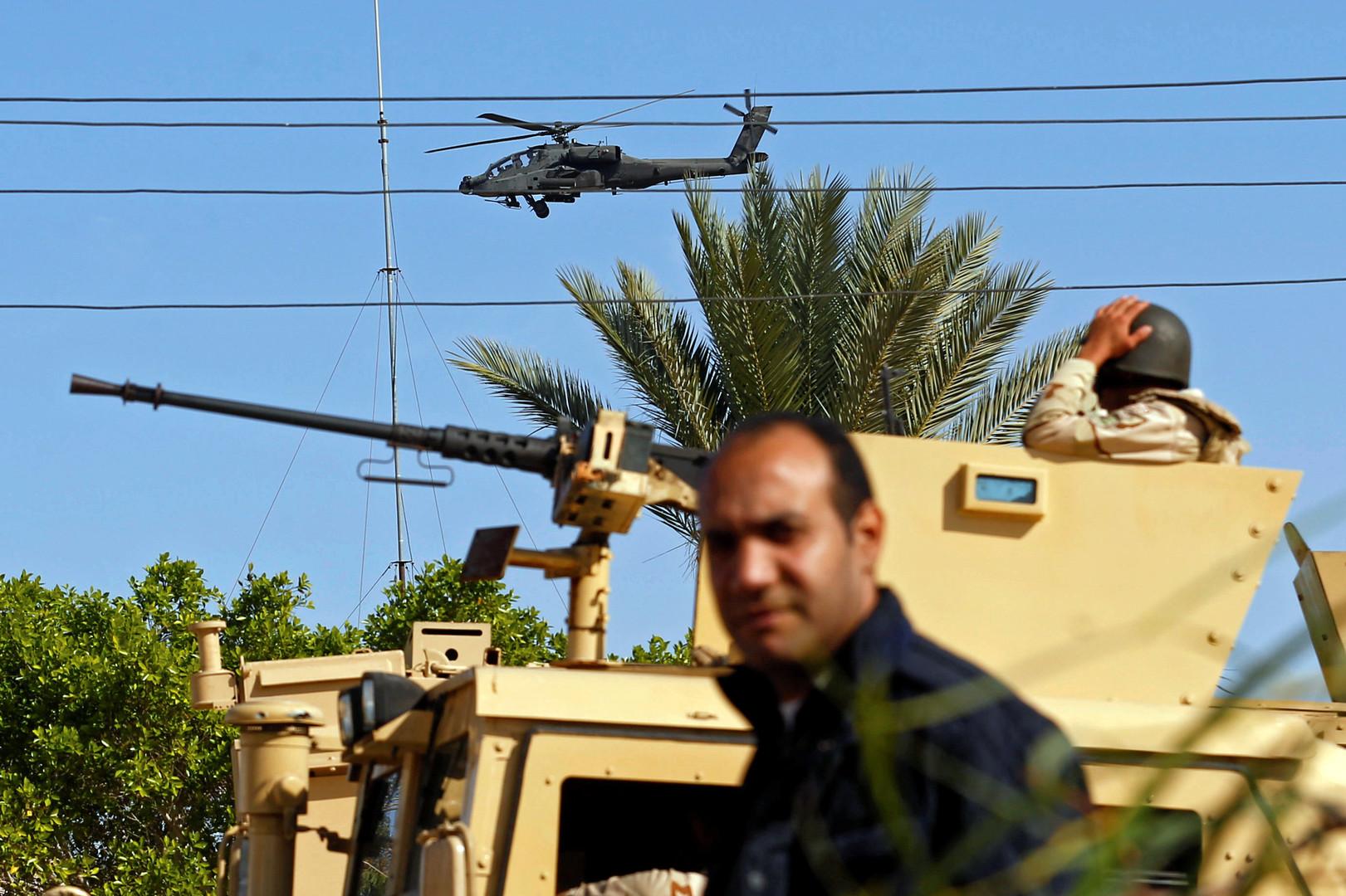 جانب من الوجود العسكري للجيش المصري في شمال سيناء