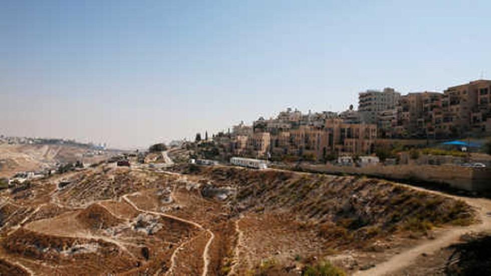 بناء مستوطنة إسرائيلية في الضفة الغربية