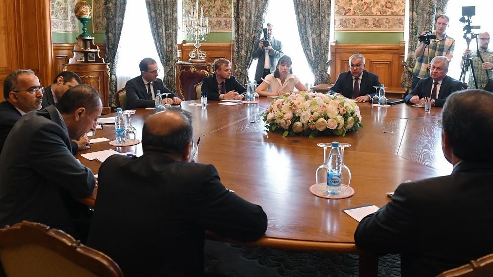 لقاء نائب وزير الخارجية الروسي سيرغي فيرشينين مع مساعد وزير الخارجية الإيراني للشؤون السياسية الخاصة علي أصغر حجي