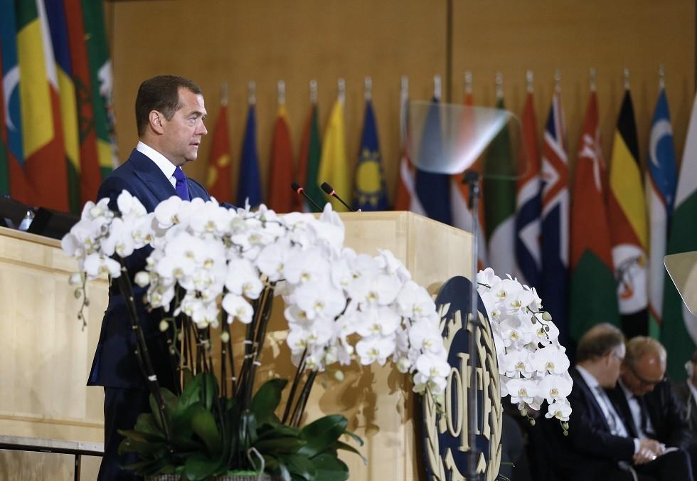 دميتري مدفيديف رئيس الوزراء الروسي