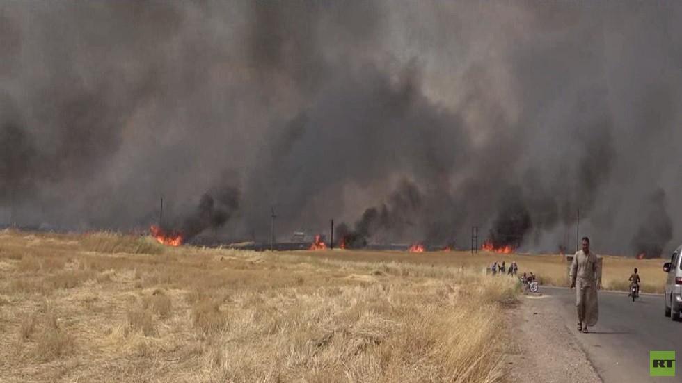 حرائق الشمال السوري تلتهم محاصيل العام