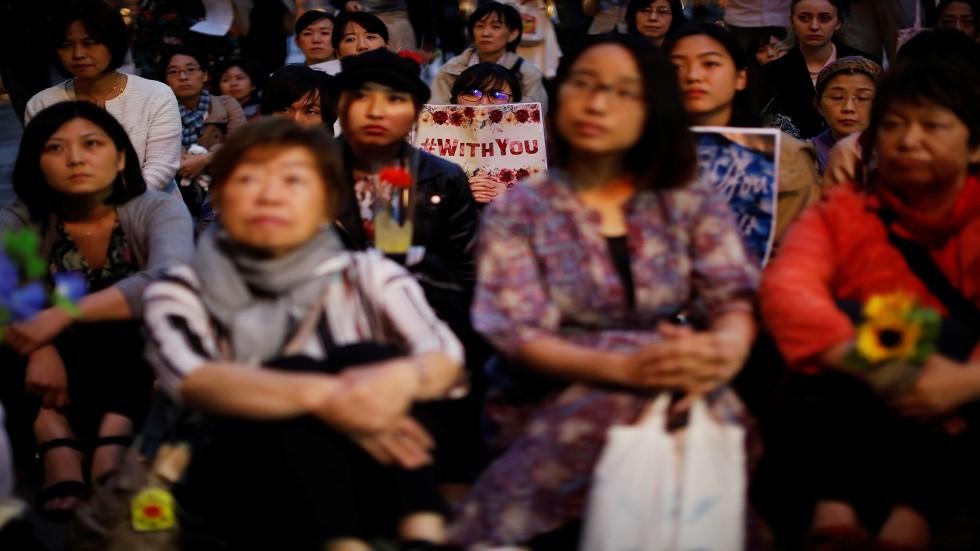 متظاهرات يابانيات ضد قوانين الاغتصاب