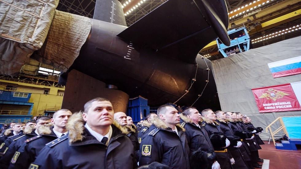 استمرار الاختبار البحري لغواصة نووية روسية ضخمة
