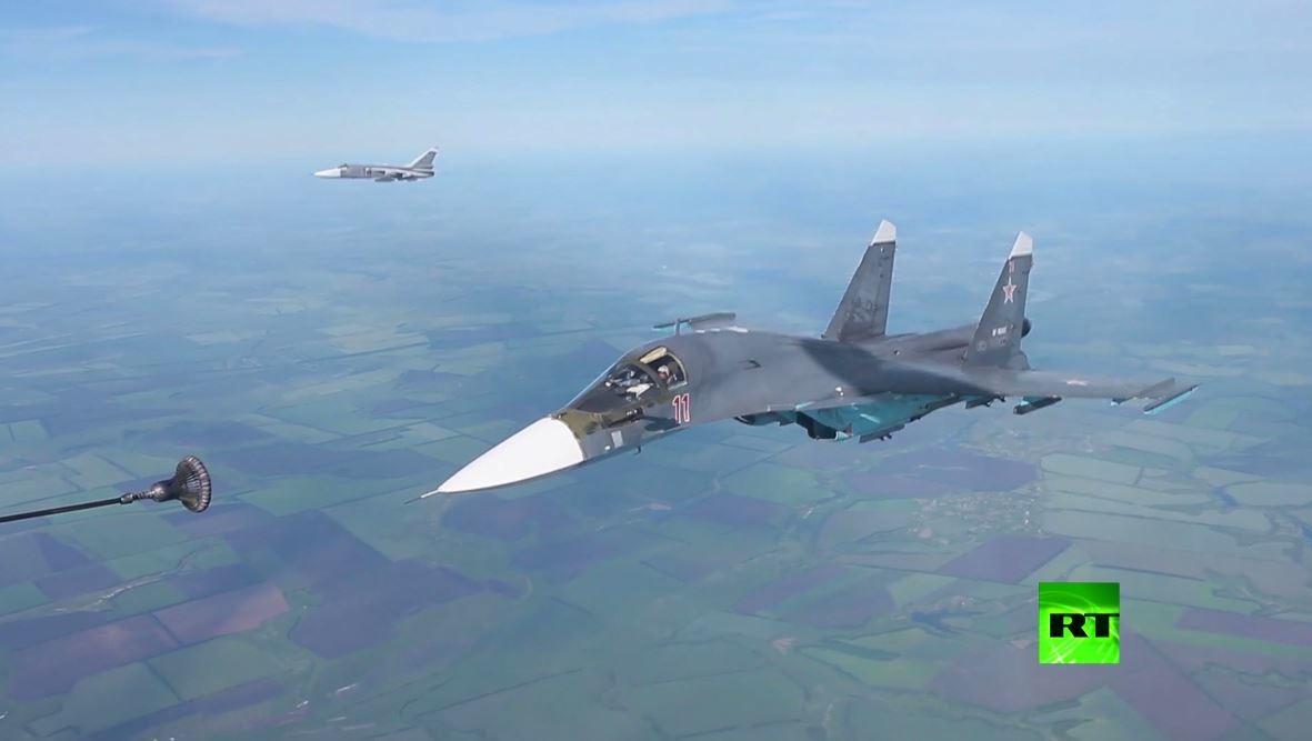 شاهد.. طائرات ميغ-31 وسو-34 وسو-24 تشارك في تدريبات القوات الجوية الروسية