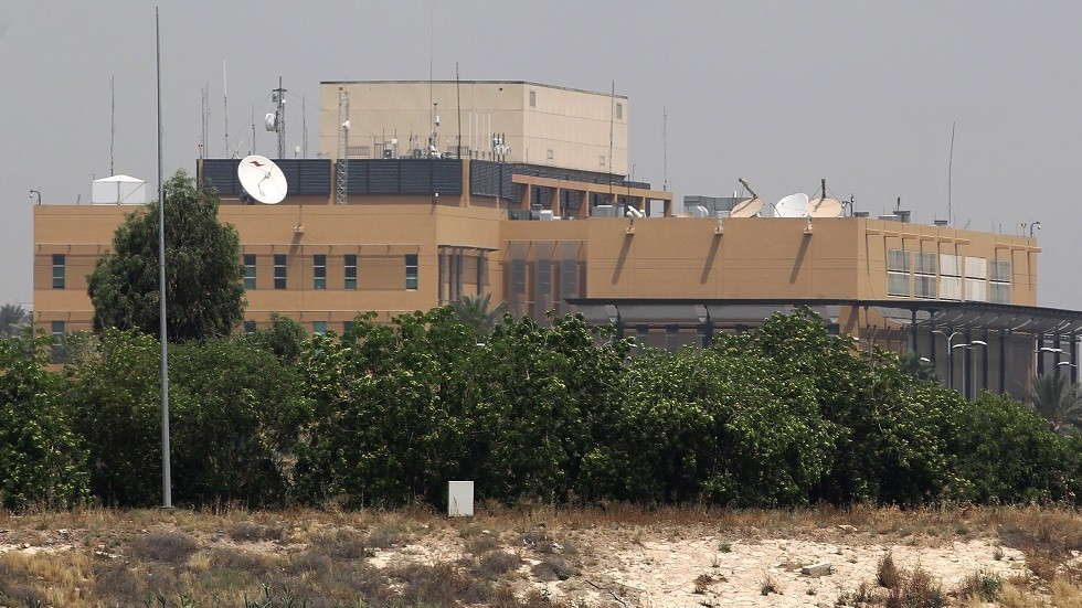 سقوط صاروخ قرب السفارة الأمريكية في بغداد