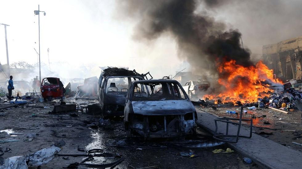 مخلفات إنفجار في مقديشو (أرشيف)