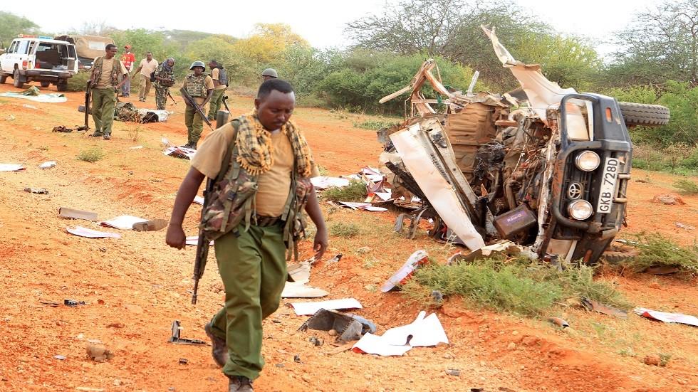 مكان تفجير عربة كينية (أرشيف)