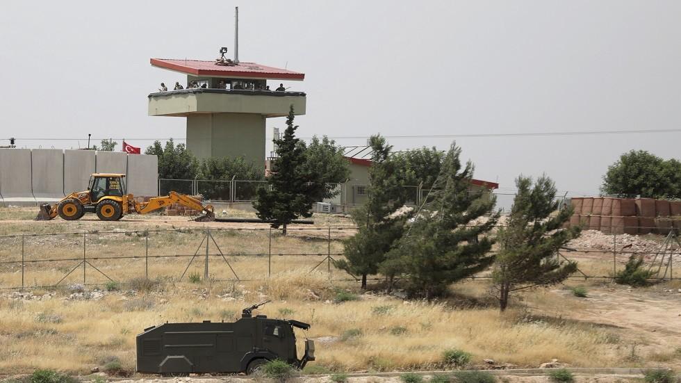 نقطة مراقبة تركية على الحدود السورية (أرشيف)