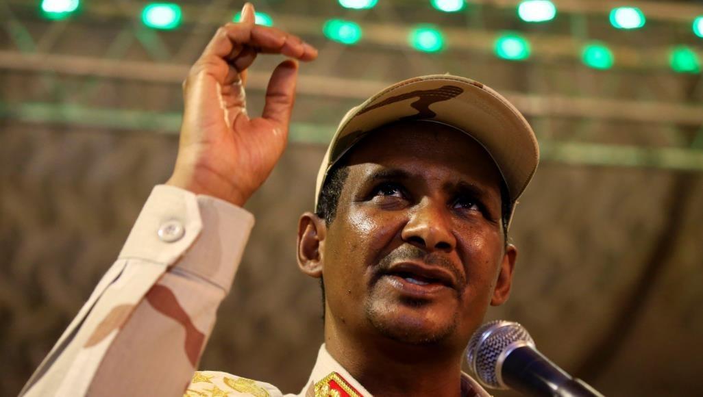 """نائب رئيس المجلس العسكري الانتقالي في السودان، محمد حمدان دقلو، الملقب بـ""""حميدتي"""""""