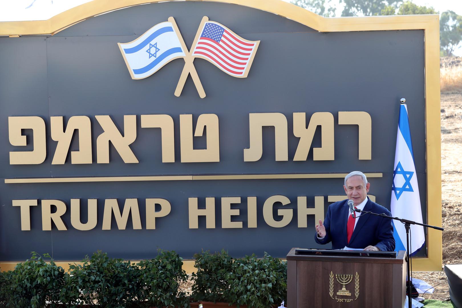 رئيس الوزراء الإسرائيلي، بنيامين نتنياهو، يدشن مستوطنة جديدة في مرتفعات الجولان المحتلة تكريما للرئيس الأمريكي، دونالد ترامب