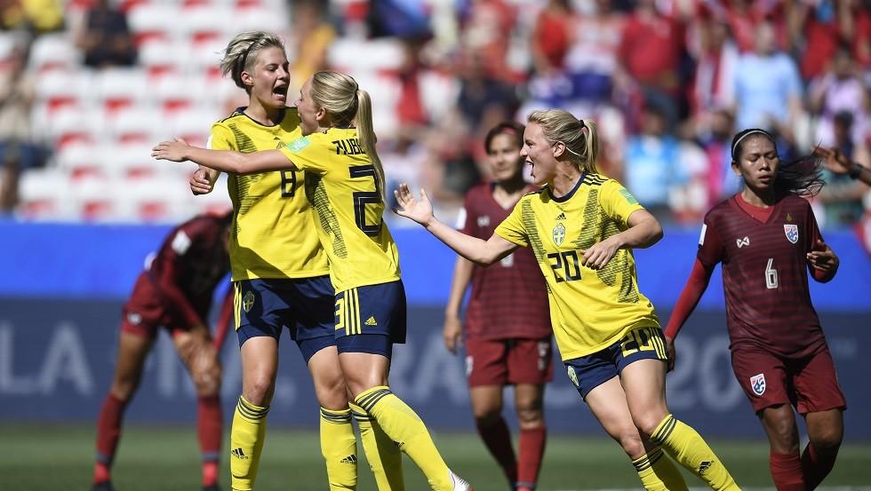 السويد إلى ثاني أدوار مونديال السيدات 2019
