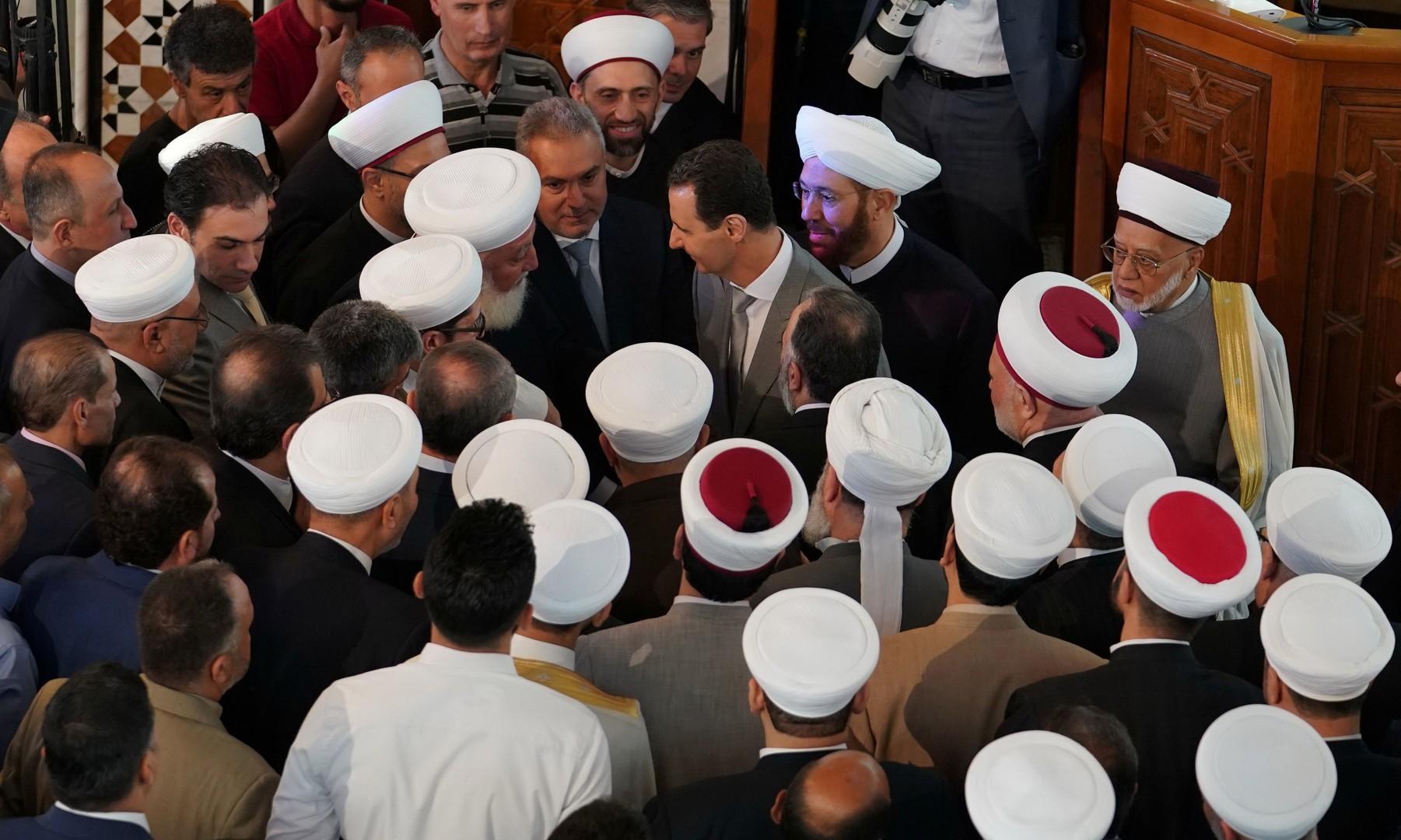 صورة نادرة للرئيس السوري بشار الأسد
