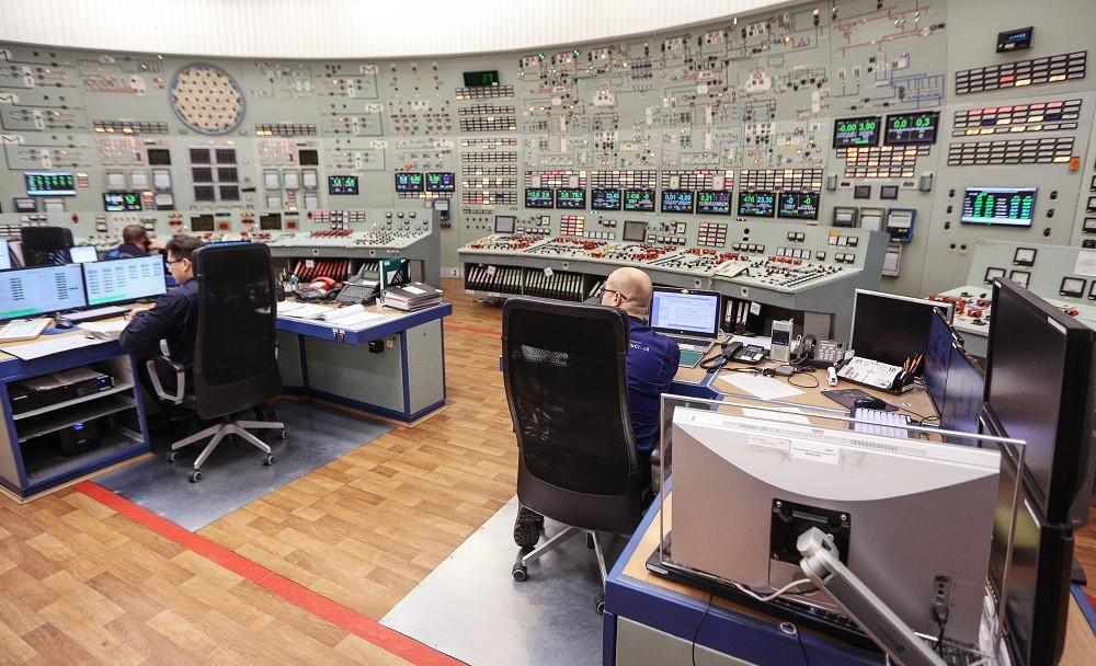 غرفة التحكم داخل إحدى المحطات الكهروذرية في روسيا