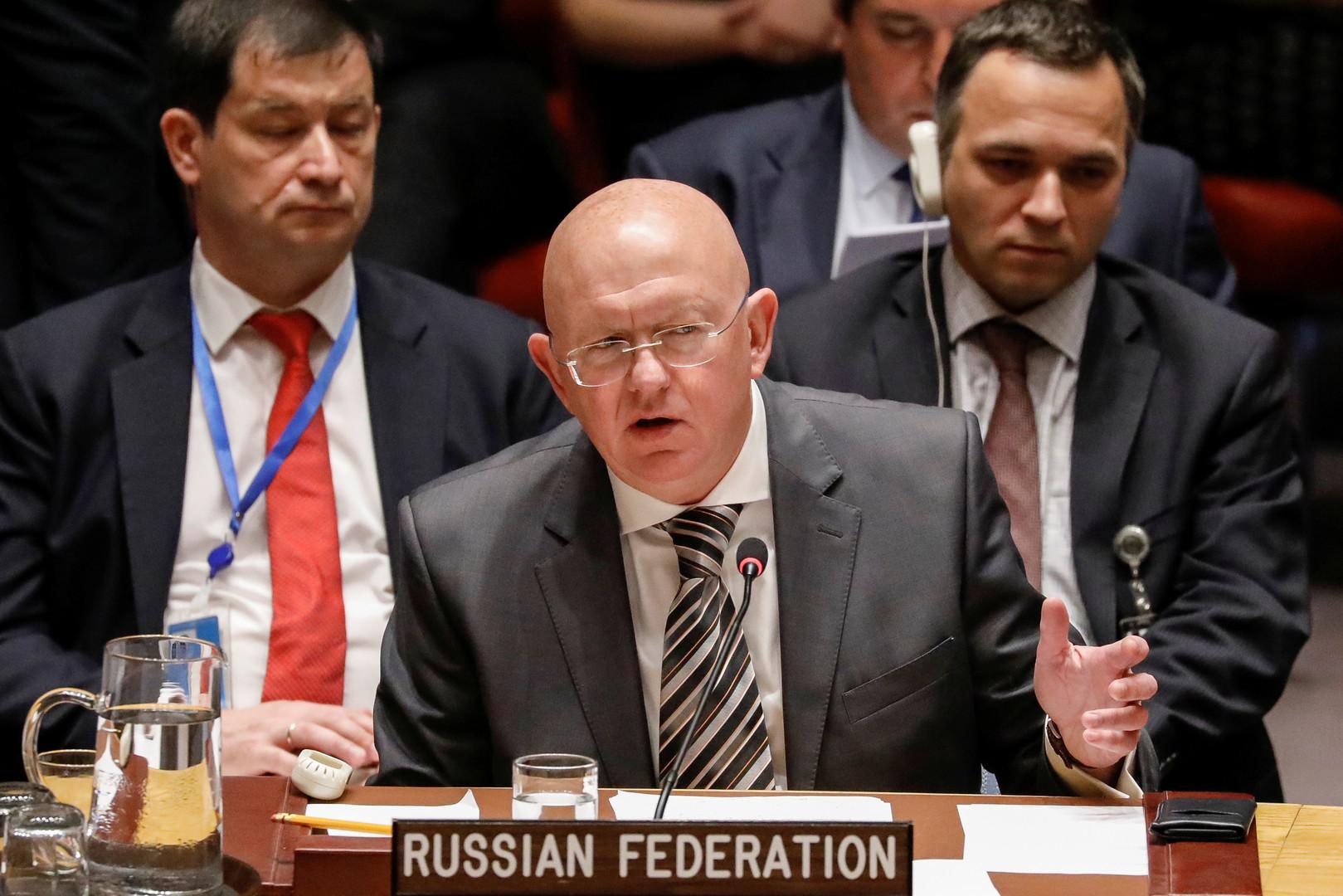 نيبينزيا: إدلب يجب أن تعود لسيطرة الحكومة السورية والاتفاق الروسي التركي لا يمنع مكافحة الإرهاب