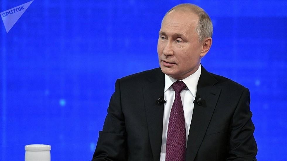 بوتين خلال ردّه اليوم على أسئلة المواطنين الروس