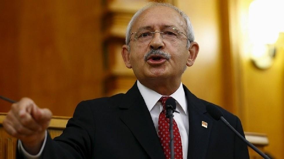 زعيم حزب الشعب الجمهوري التركي، أكبر أحزاب المعارضة، كمال قليجدار أوغلو