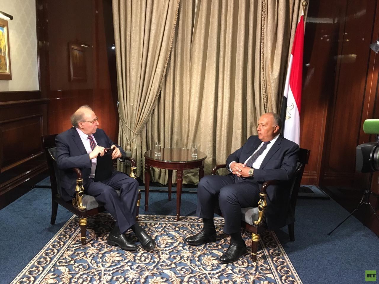 شكري لـRT: نرفض تدخلات إيران وأمن الخليج من أمن مصر
